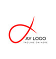abstract logo design about ay a y letter vector image vector image