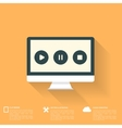 abstract musical background with flat web icons vector image