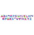 alphabet for kids funny childish font letters vector image