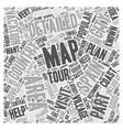 Areas On A Detailed Map Of Spain text background vector image vector image