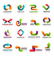 arrows logotype digital web stylized symbols vector image vector image