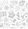 back to school seamless pattern hand drawing vector image vector image