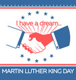 banner martin luther king day vector image