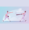baseball players are training character design vector image