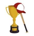 baseball trophy award sport vector image vector image