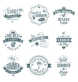 Beach emblems set vector image