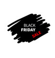 black friday sale banner special offer sign vector image