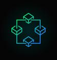 blockchain colored outline icon block vector image vector image