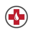 Blood Donation Emblem Template vector image