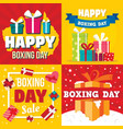 boxing day banner set flat style vector image vector image