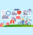 bright banner physical activity people in old age vector image