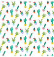 cactus plant seamless pattern vector image