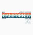 california los angeles athletic typography vector image vector image