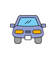 cartoon car vehicle transport front view icon vector image