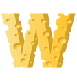 cheese letter W vector image vector image