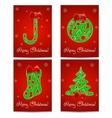 Christmas Greeting Card set vector image