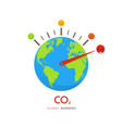 climate change and global warming concept vector image vector image