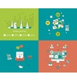 Concepts for strategy planning and successful vector image vector image