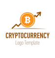 crypto currency or bitcoin logo design flat trend vector image vector image