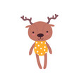 cute soft baby deer plush toy stuffed cartoon vector image vector image