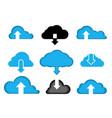 data cloud a set icons computer vector image