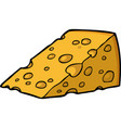 doodle piece of cheese vector image