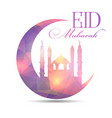 eid mubarak background with low poly design vector image vector image