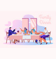 family dinner flat banner template vector image vector image