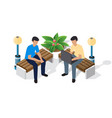 family time recreation isometric people vector image