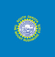 flag of south dakota vector image vector image