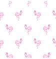 flamingo pink on white elegant wedding seamless vector image vector image