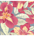 floral seamless pattern flower iris background vector image vector image