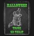 halloween holiday chalk poster for party textured vector image vector image