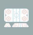 hockey field isometric flat design vector image vector image