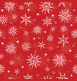 holiday red hand drawn christmass vector image vector image