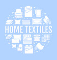 home textiles circle template with flat glyph vector image vector image