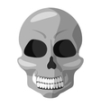 Human skull icon gray monochrome style vector image vector image