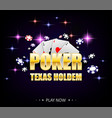 internet casino banner with glowing lamps vector image