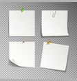 isolated white sticky notes vector image vector image