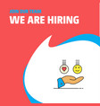 join our team busienss company emoji in hands we vector image