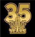 LaurelNew New 35 godina vector image vector image
