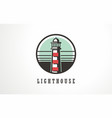 lighthouse beacon light symbol icon light marine vector image vector image
