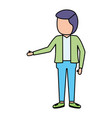 man standing character vector image vector image