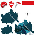 map of vienna austria with named districts vector image vector image