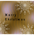 Merry Christmas postcard with white snowflakes vector image vector image