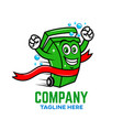 modern champion trash can logo vector image vector image