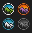 Mountain badges vector image vector image