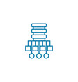 network structure linear icon concept network vector image