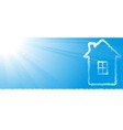 new house silhouette on sky background vector image