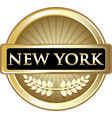 new york gold label vector image vector image